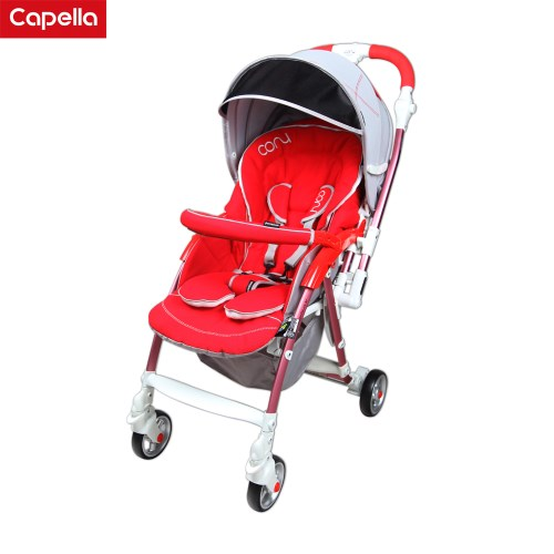 【Capella】 cony銀離子尊爵版雙向手推車-黃 /紅