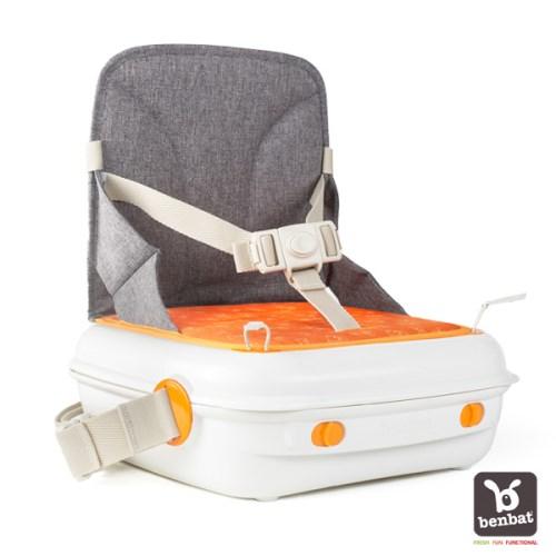 Benbat 墊高椅 + 收納箱(橘)
