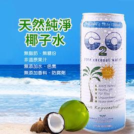 【美國C2O】100%天然純淨椰子水(520ml/罐)