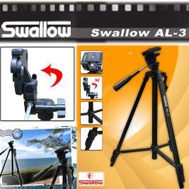 【SWALLOW】三節專業輕型腳架AL-3(黑色)