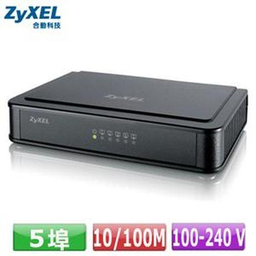ZyXEL ES-105E 5埠桌上型快速乙太網路交換器