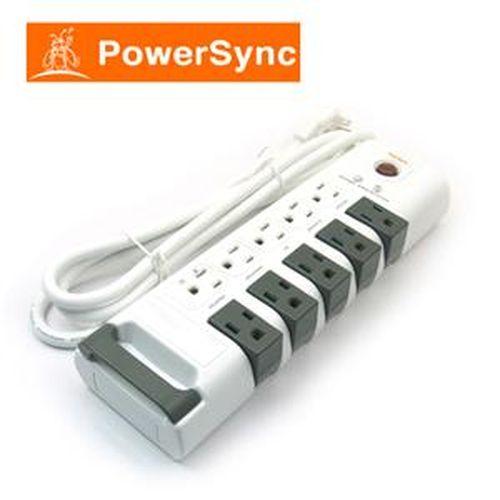 PowerSync群加 PWS-ERT1018 十孔旋轉防雷擊延長線 (1.8)