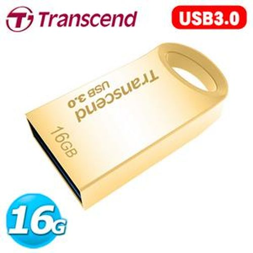 Transcend 創見 JetFlash 710 16GB USB3.0 隨身碟 鋅合金防水抗震碟 (奢華金)