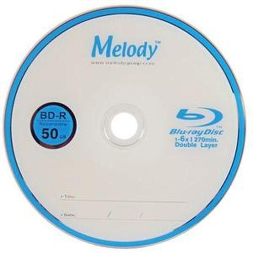 Melody 藍光燒錄片 6X BD-R DL 50GB 10入裝