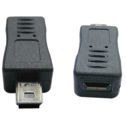 USB 迷你5P公轉Micro B母轉接頭