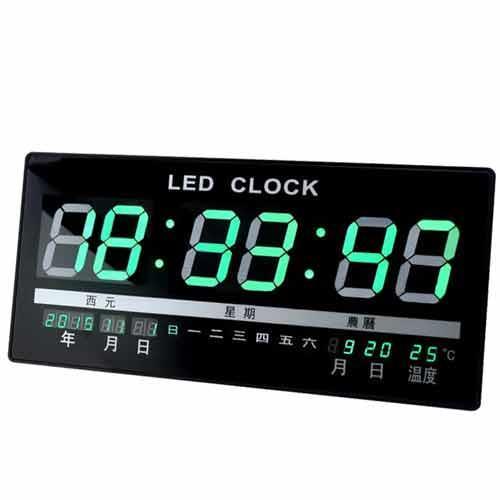 綠光 LED 萬年曆電子鐘 JH-4622