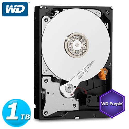 WD 紫標 3.5吋 1TB SATA3 監控系統 內接硬碟 10PURX