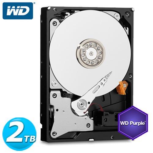 WD 紫標 3.5吋 2TB SATA3 監控系統 內接硬碟 20PURX