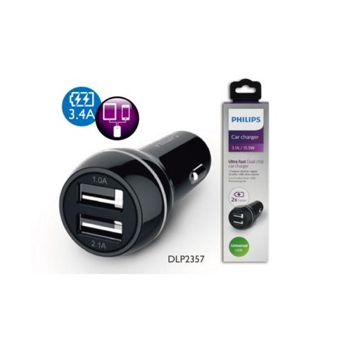 PHILIPS DLP2357/10 雙USB3.1A車用充電器