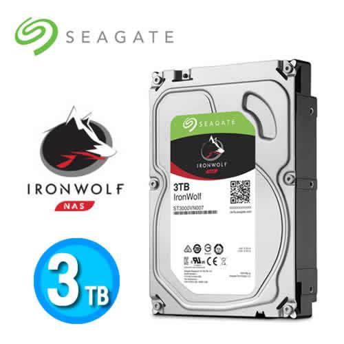Seagate IronWolf 3.5吋 3TB NAS專用硬碟 (NAS HDD)