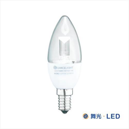 舞光 LED E14 水晶蠟燭燈 (白座尖清)