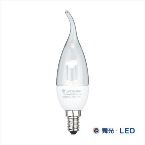 舞光 LED E14 水晶蠟燭燈 (白座拉尾)