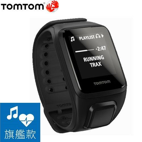 TomTom SPARK 健身錶旗艦款(音樂+心率) 黑色寬錶帶