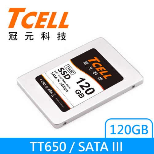 TCELL 2.5吋SSD TT650 120G 固態硬碟