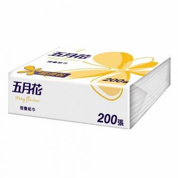 五月花 摺疊擦手紙 200張 (20包/箱)