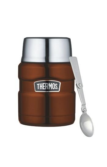 THERMOS膳魔師保溫食物罐.悶燒罐 SK3000 咖啡色(附湯匙)