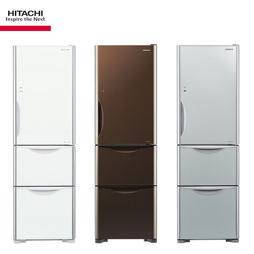 HITACHI日立冰箱 RG41A 泰製冰箱 3門394公升 solgege琉璃系列