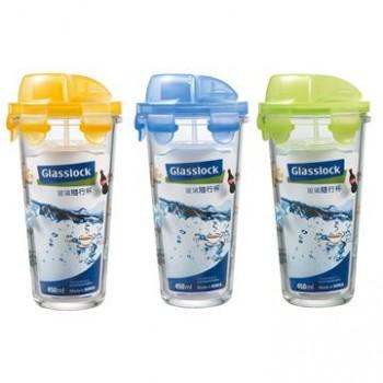 《Glasslock格拉氏洛克》 SP-1407 玻璃隨行杯/瓶 450ml 1盒三入組 【免運費】