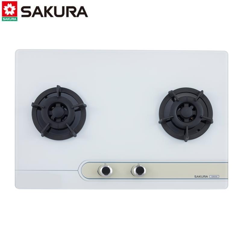 SAKURA櫻花牌 檯面爐 G2623G 二口大面板易清玻璃檯面爐
