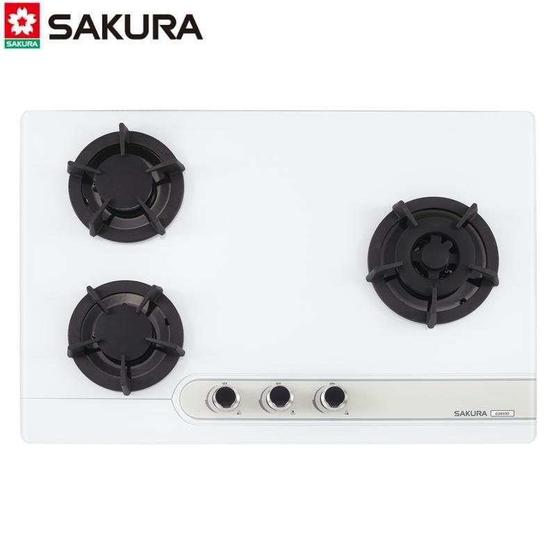SAKURA櫻花牌 檯面爐 G2633G 不鏽鋼 三口大面板易清檯面爐