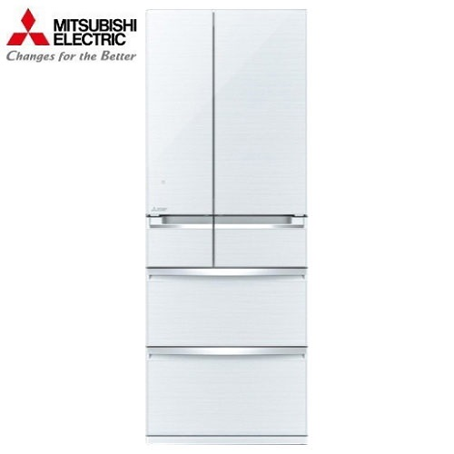 MITSUBISHI 三菱冰箱 MR-WX61Z 日本原裝 旗艦玻璃鏡面系列電冰箱 六門605L絲娟白