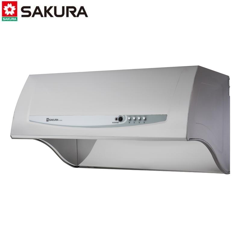 SAKURA櫻花牌 深罩系列排油煙機 R-3680SL 雙效除油 不鏽鋼銀80CM