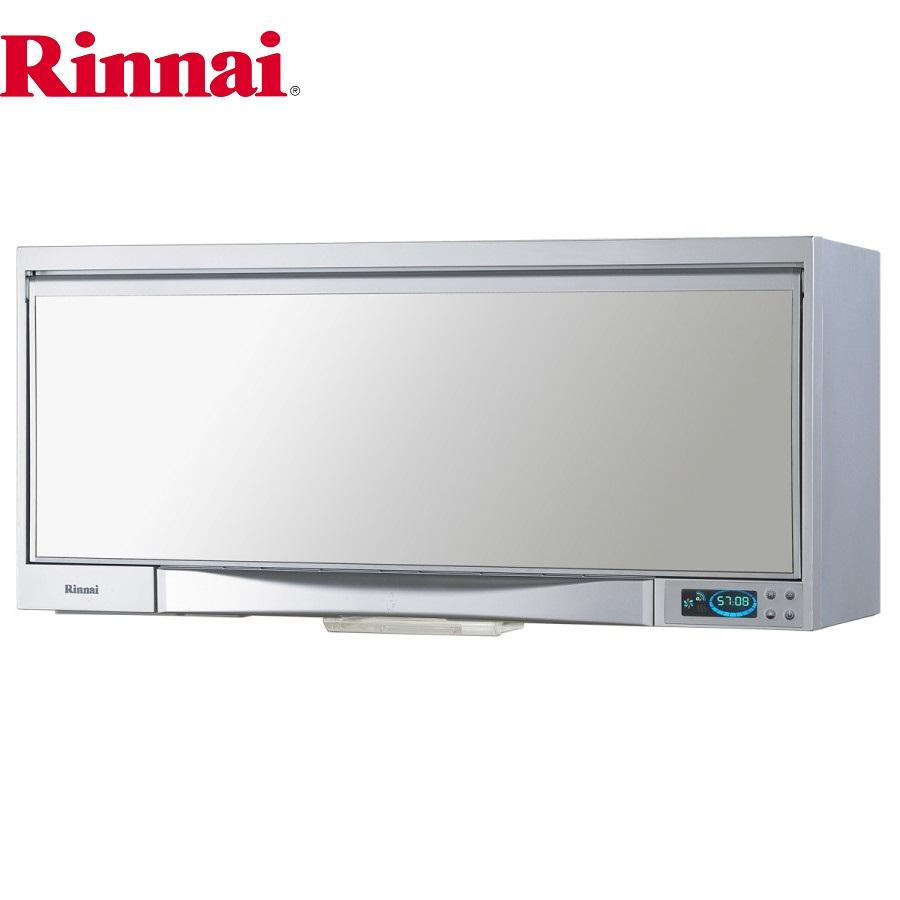 RINNAI林內牌 懸掛式 RKD-182SY 紫液晶顯示烘碗機 銀色鏡面 80cm