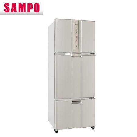 【現金價】聲寶SAMPO冰箱SR-N46DV 三門 變頻 455公升 炫麥金色