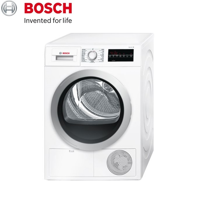 BOSCH 博世 WTG86401TC 歐規220V中文面板8公斤冷凝式乾衣機 -產地:波蘭