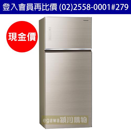 國際牌Panasonic冰箱NR-B589TG 強化玻璃門面 二門 579公升 變頻 節能新1級 翡翠金色 (台灣松下簽約經銷商)