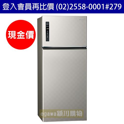 國際牌Panasonic冰箱 NR-B589TV 二門 579公升 變頻 節能新1級 銀河灰色 (台灣松下簽約經銷商)