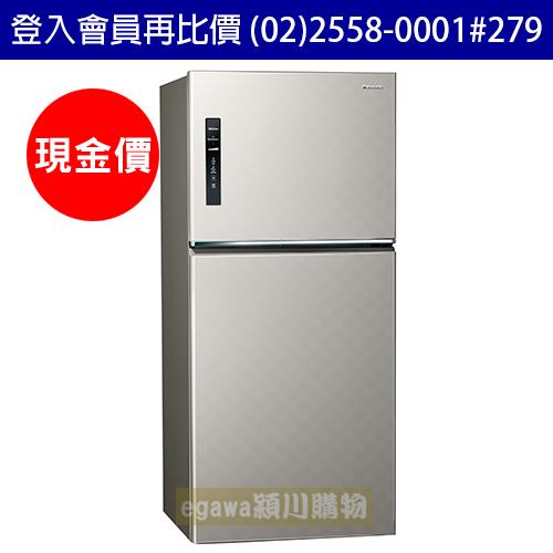 國際牌Panasonic冰箱NR-B659TV 二門 650公升 變頻 節能新1級 銀河灰色 (台灣松下簽約經銷商)