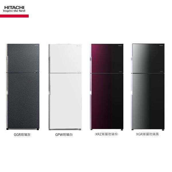 (請來電洽詢最優惠現金價)HITACHI日立冰箱 RG399 兩門琉璃 381公升【優惠價格8/20-9/20】