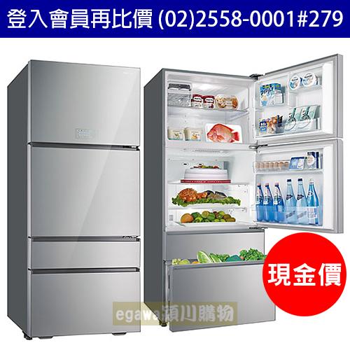 【現金價】三洋SANLUX冰箱 SR-C560DVG 能效1級 變頻玻璃四門 560公升 (台灣三洋經銷商)