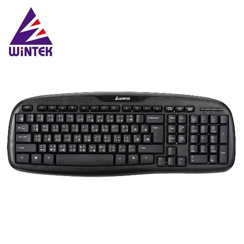 WiNTEK 文鎧 黑武士防水鍵盤 WK160 黑/USB