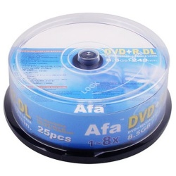 AFA DVD+R DL 8.5G 8X 25布丁桶