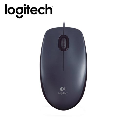 Logitech 羅技 M90 光學滑鼠 黑灰