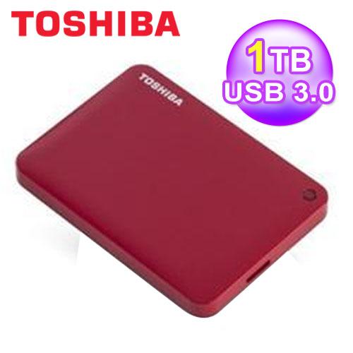 東芝 Toshiba 1T 2.5吋 ConnectII V8 行動硬碟 紅 USB3.0