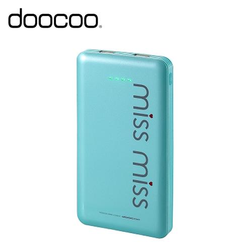DOOCOO MISS MISS Brimful 13000+ 行動電源 綠