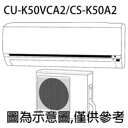 好禮五選一【Panasonic國際】7-8坪變頻冷專分離式CU-K50VCA2/CS-K50A2