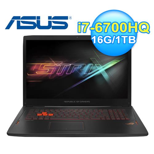 ASUS 華碩 GL702VM-0051A 17.3吋 電競筆電