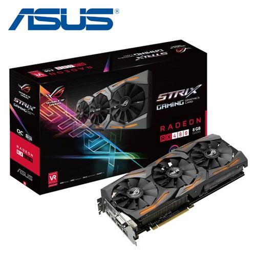 ASUS 華碩 STRIX-RX480-O8G-GAMING 顯示卡