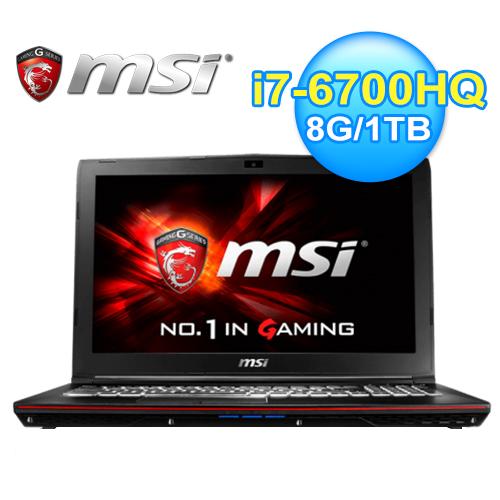 msi 微星 GP62 6QE-1236TW 六代筆電