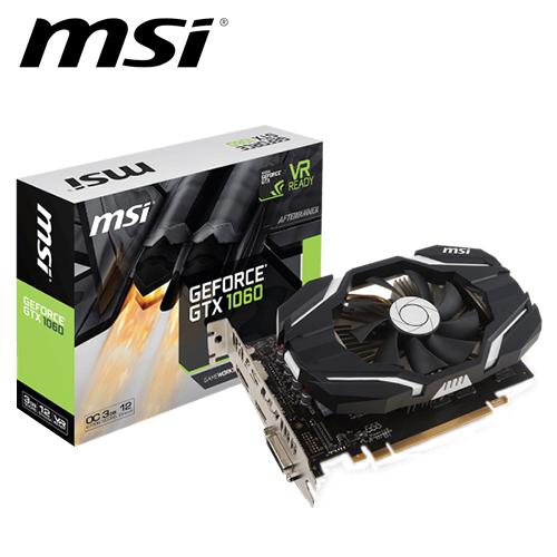 msi 微星 GTX 1060 3G OCV1 顯示卡