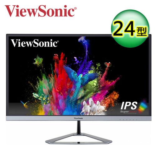 ViewSonic 優派 VX2476-SMHD 24型 無邊框護眼顯示器