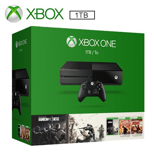 Xbox One 單機版 1TB 虹彩六號:圍攻行動同捆組