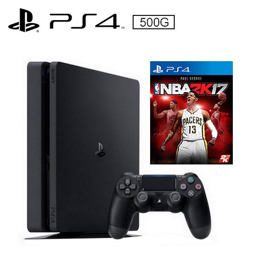 PS4 500G 薄型主機 黑(NBA 2K17 遊戲同捆)