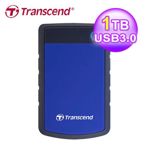 創見 1T SJ25H3B 軍規防震硬碟 USB3.0