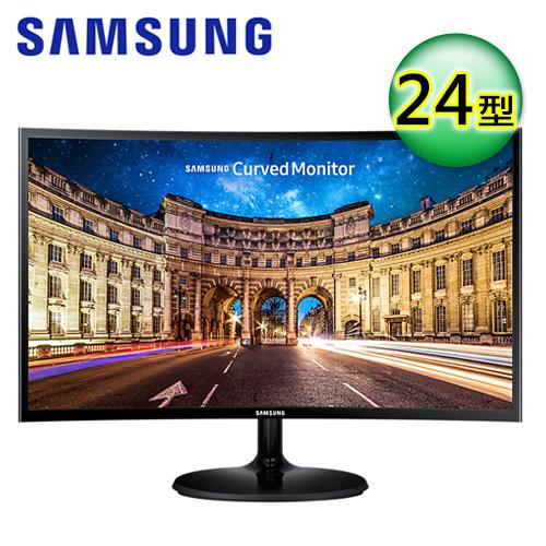SAMSUNG C24F390FHE 24型 VA曲面寬螢幕