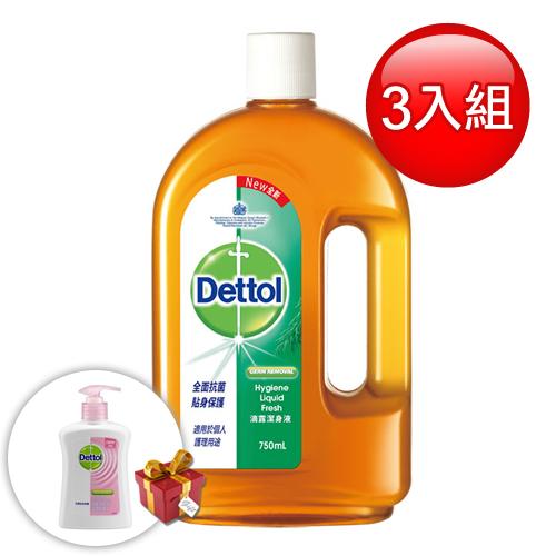Dettol 滴露 潔身液(750ml) /3入組